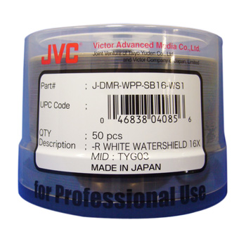 JVC防水可打印光盘(WaterShield DVD-R)